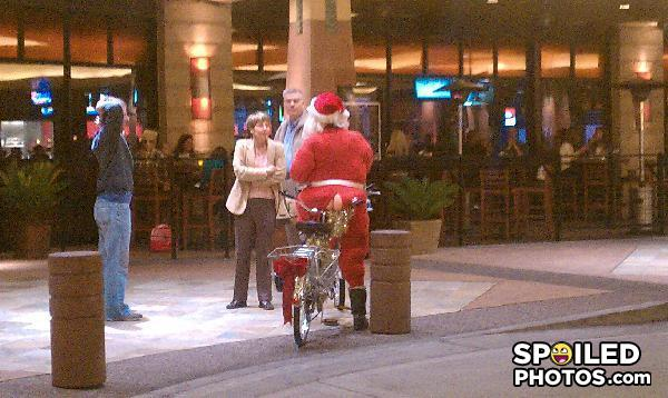 "- Swingin' Santa offers a ""bike ride"" to an interest"