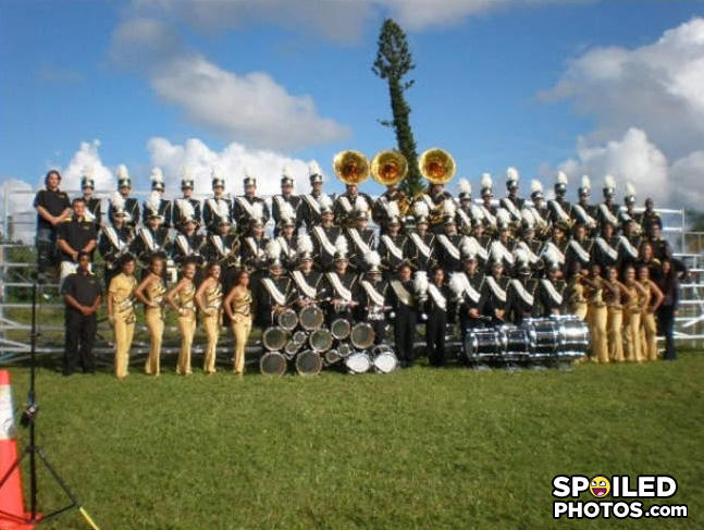 - it takes real balls to play in the marching band,
